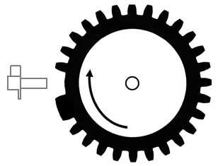 Inductive sensor signal depends also on position and shape of the reluctor wheel teeth.