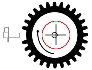 how the amplitude from an inductive crankshaft position sensor is modulated or changes due to a change in distance between the reluctor wheel teeth and the sensor